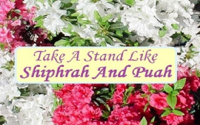 Take A Stand Like Shiphrah And Puah