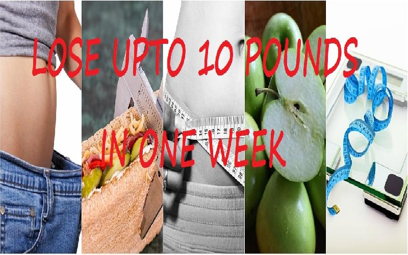 How to Lose Weight in a Week at Home? One Week Weight Loss Plan | Reduce 4.5kg in 7 Days