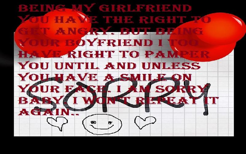 I Am Sorry / Apology Messages For Girlfriend