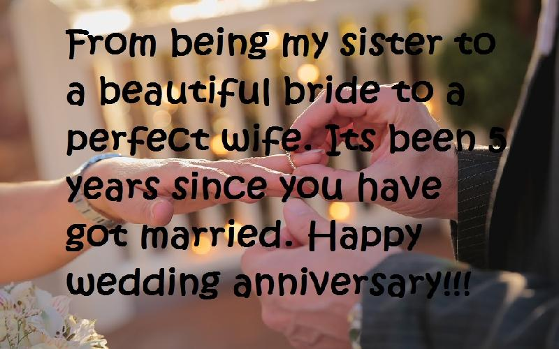 Happy Wedding Anniversary Wishes For a Sister   Samplemessages Blog