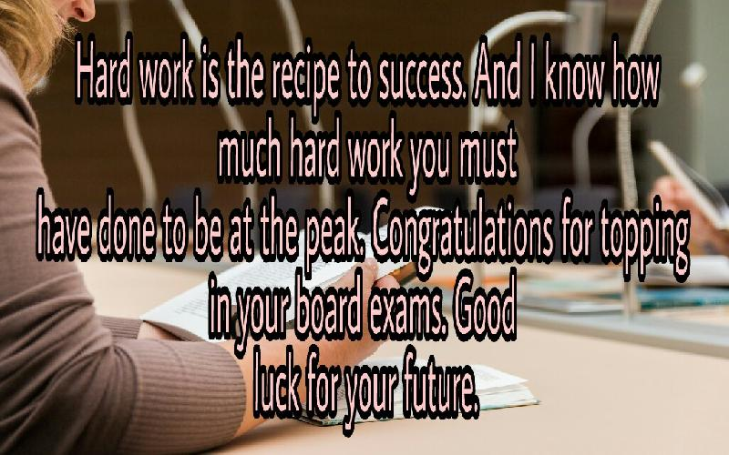 congratulation messages for topping in an exam