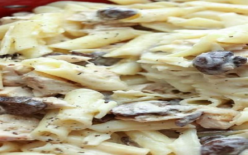 Chicken Cream Mashroom Pasta Recipe
