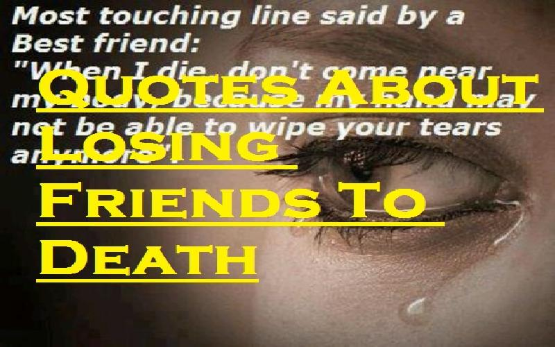 Quotes About Losing Friends To Death