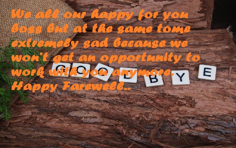 29 Farewell Messages for a Boss