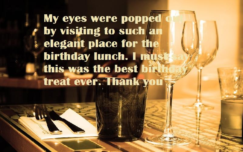 Thank You Quotes For Dinner Party: Thank You Messages And Quotes For Birthday Lunch