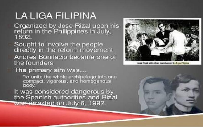 The Filipino Reformist Movement Called La Liga Filipina