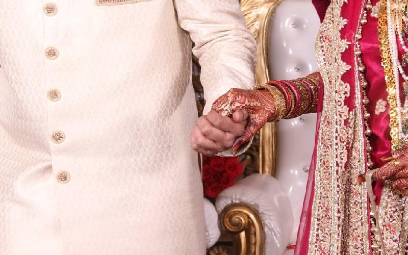 The makeup of an Indian bride