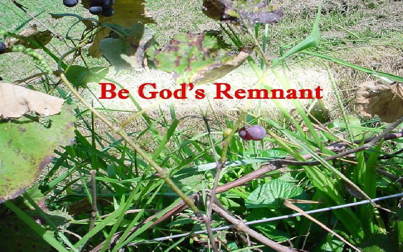 Be God's Remnant