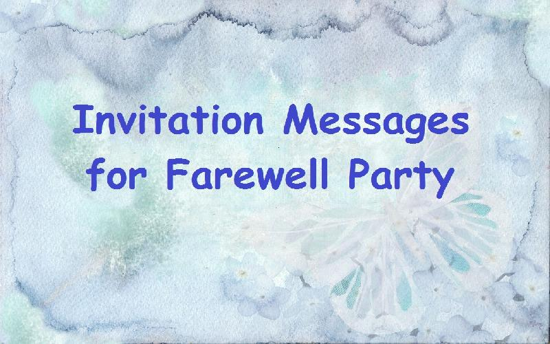 Sample invitation messages for farewell party to colleagues at sample invitation messages for farewell party to colleagues at office what to write in a stopboris Images