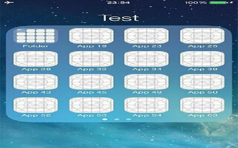 Folder tweak for IOS 7 users