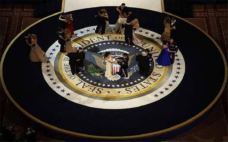 Trump and Melanie attend the Inaugural Ball