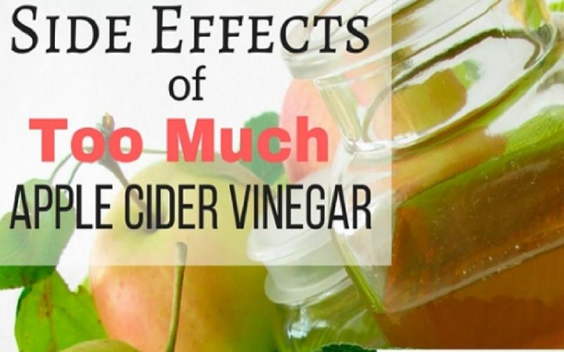 10 Side Effects of Apple Cider Vinegar When Consumed in Excess