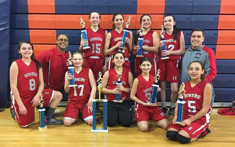 Somers 7A Girls Tuskers win Tri-County Basketball League