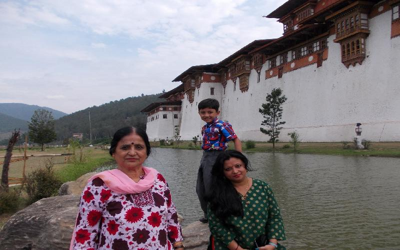 The beauty of the nature's paradise Paro and Punakha in Bhutan.