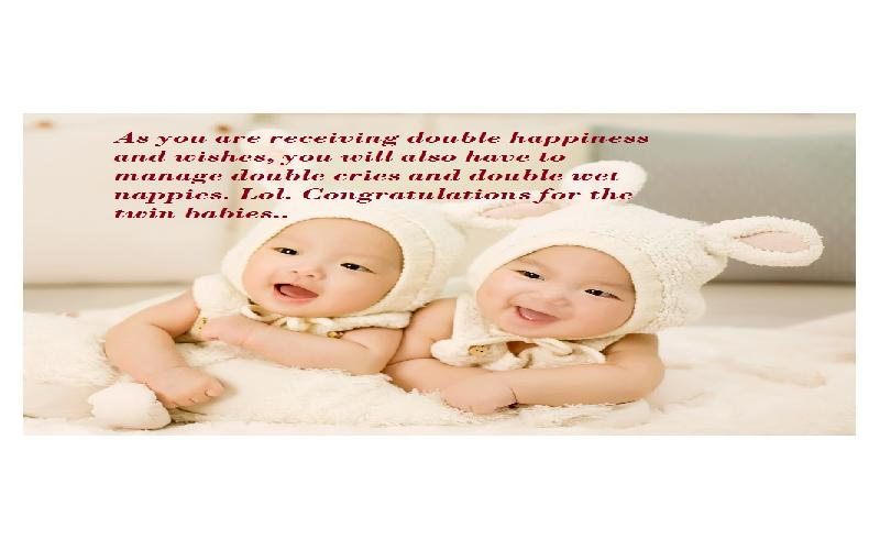 Congratulation Wishes and Quotes for Having Twin Babies to Parents