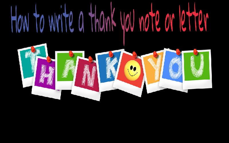 How to Write a Thank You Note or Letter?