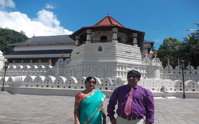 The religious value of Temple of Tooth in Kandy, Sri Lanka.