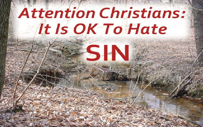Attention Christians: It Is OK To Hate Sin