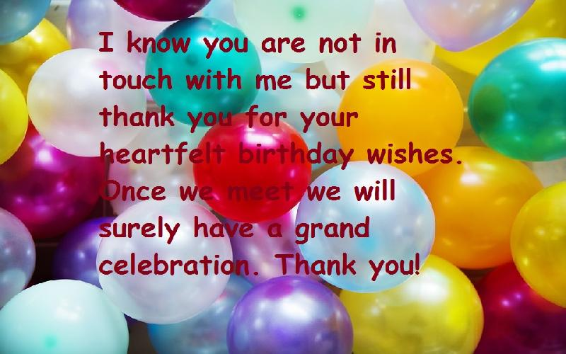 Thank You Messages and Quotes For Birthday Blessings