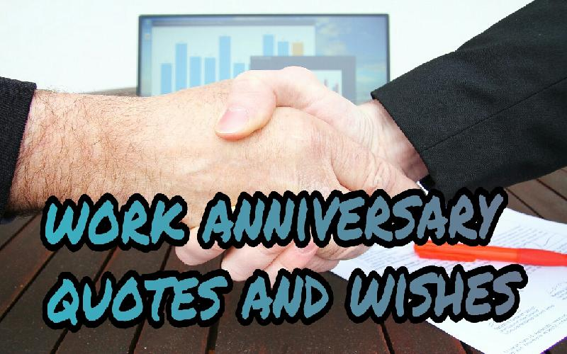 work anniversary message