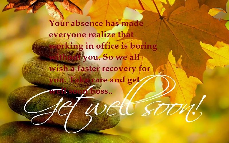 Get Well Soon Messages, Quotes and Notes for Boss
