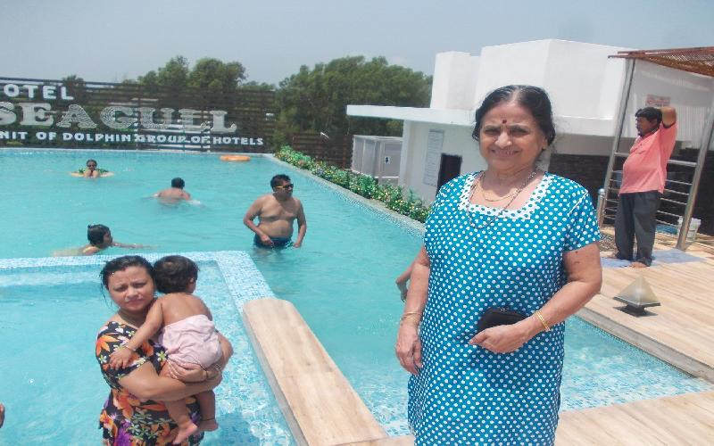 The Rooftop Swimming Pool in Hotel Dolphin Seagull in Digha is Awesome