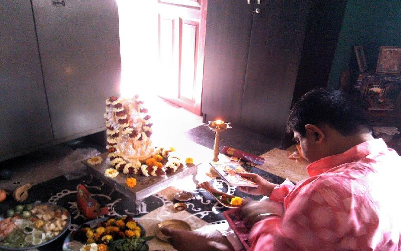There is huge religious sentiment relating to Saraswati Puja.