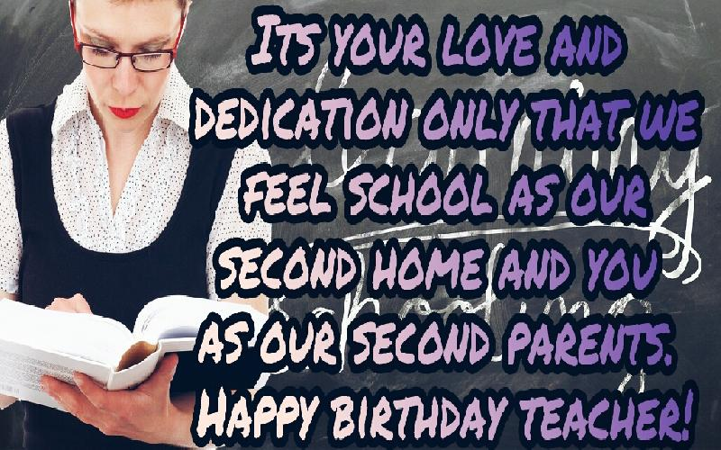 Amazing Birthday Wishes and Quotes for Teacher