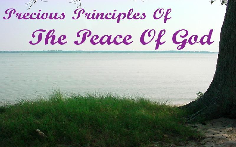 Precious Principles Of The Peace Of God