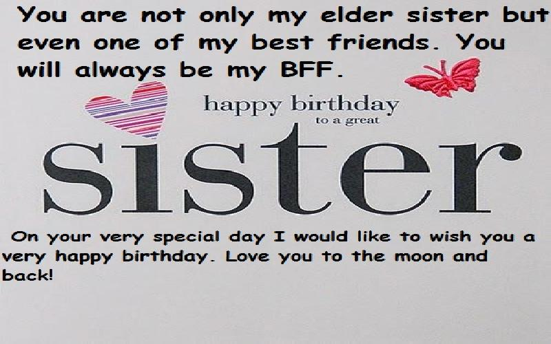 Happy Birthday Wishes And Quotes For Elder Sister