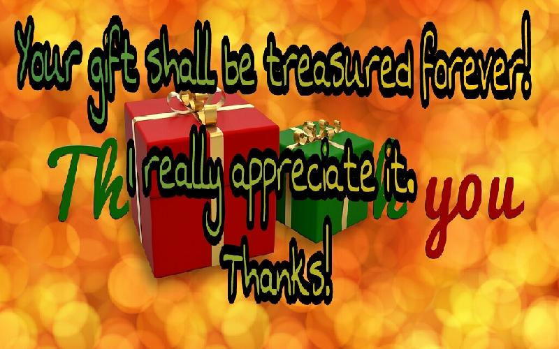 Thank You Messages for Receiving Gift | Quotes to Thanks for Gift