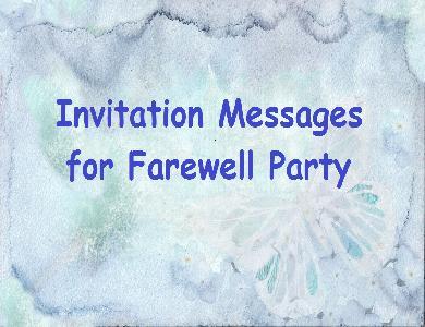 Tag Farewell Invitation Card Wordings