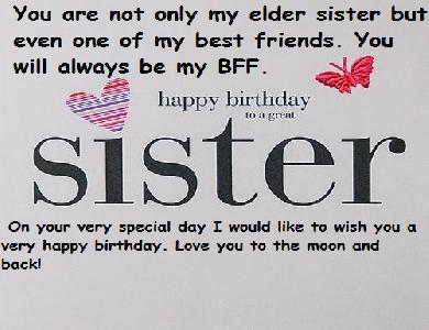 Tag Happy Birthday Elder Sister Quotes