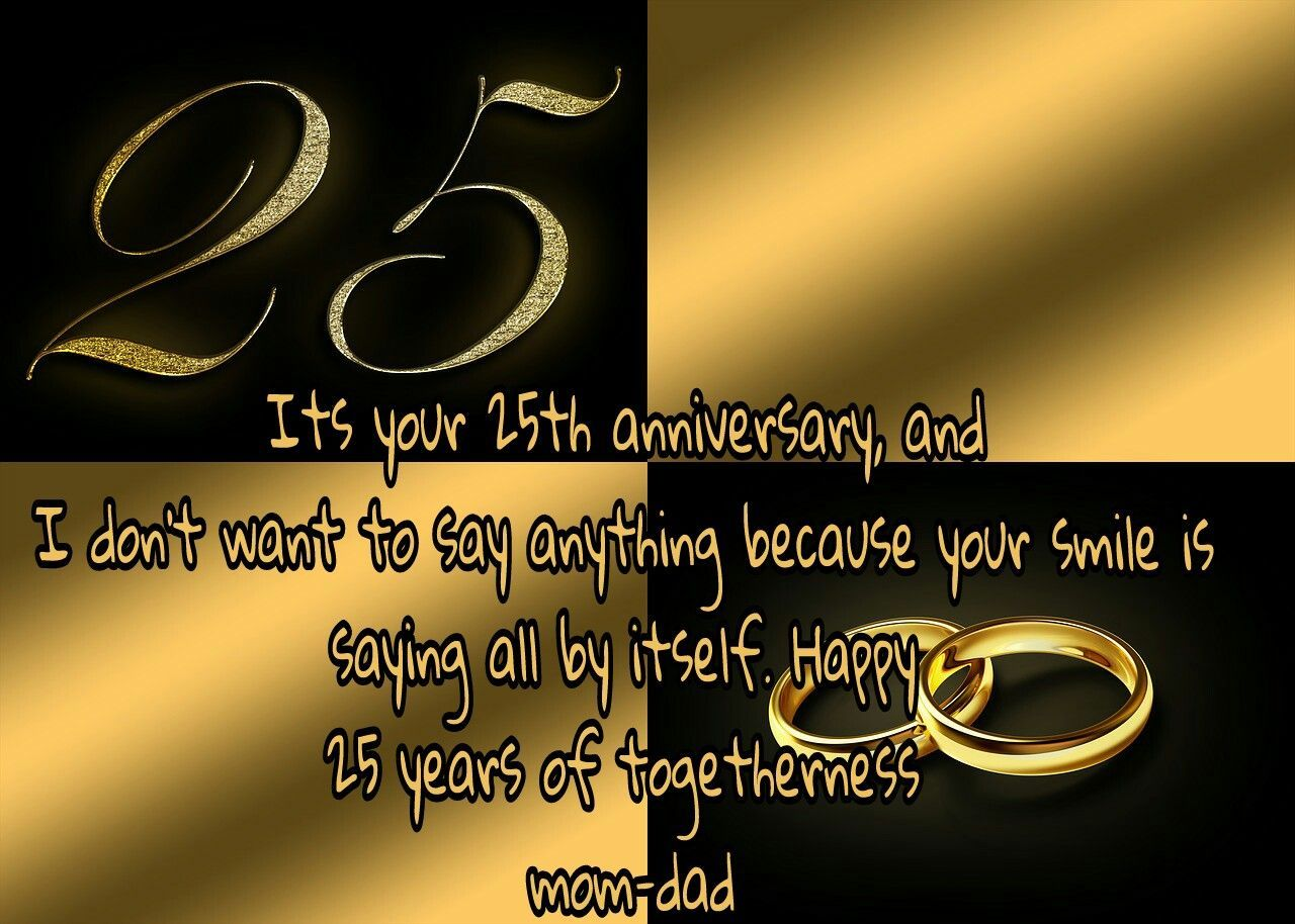 25th Wedding Anniversary Wishes For Parents Samplemessages Blog